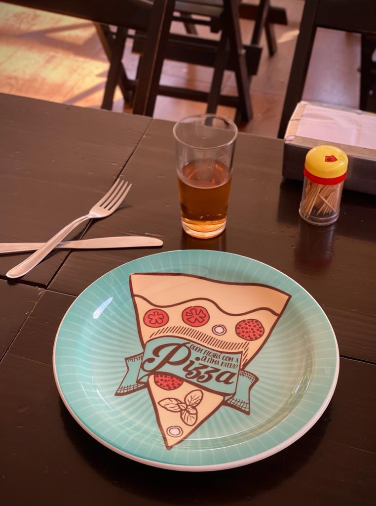 Prato Raso Pizza Quem Ficara Com A Ultima Fatia? Verde - EV