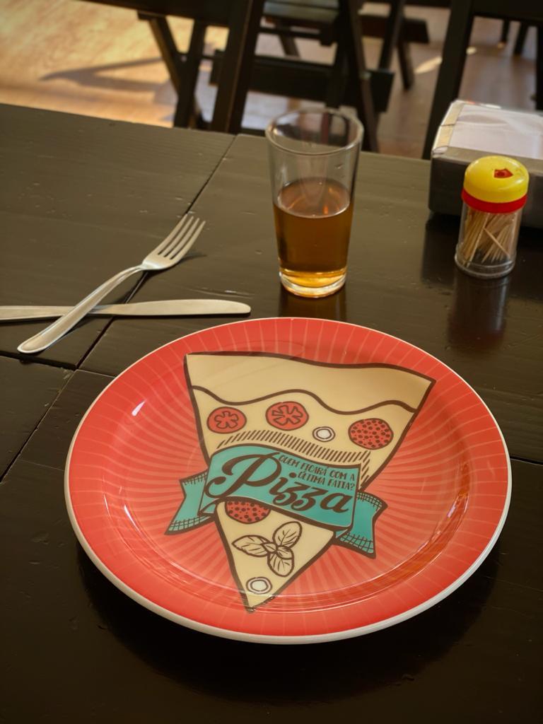 Prato Raso Pizza Quem Ficara Com A Ultima Fatia? Vermelho - EV