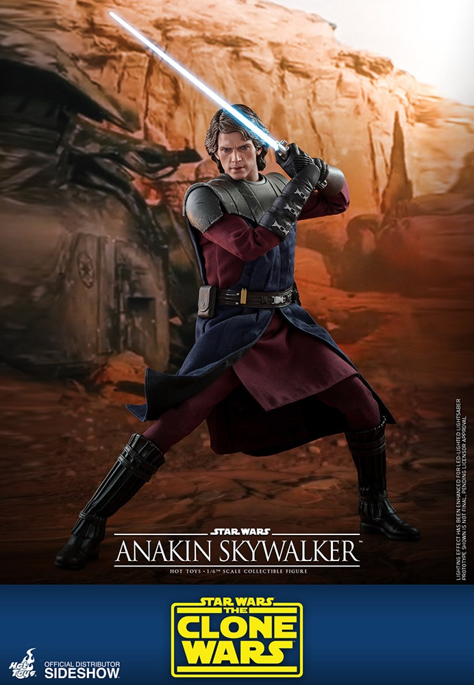 PRÉ VENDA: Action Figure Anakin Skywalker The Clone Wars A Guerra dos Clones Star Wars Escala 1/6  - Hot Toys