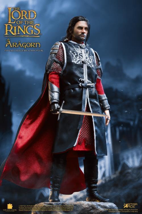 PRÉ VENDA: Action Figure Aragorn: O Senhor Dos Anéis The Lord Of The Rings Serie Mestre Real Real Master Serie Edição De Luxo Delux Edition Escala 1/8 - Star Ace