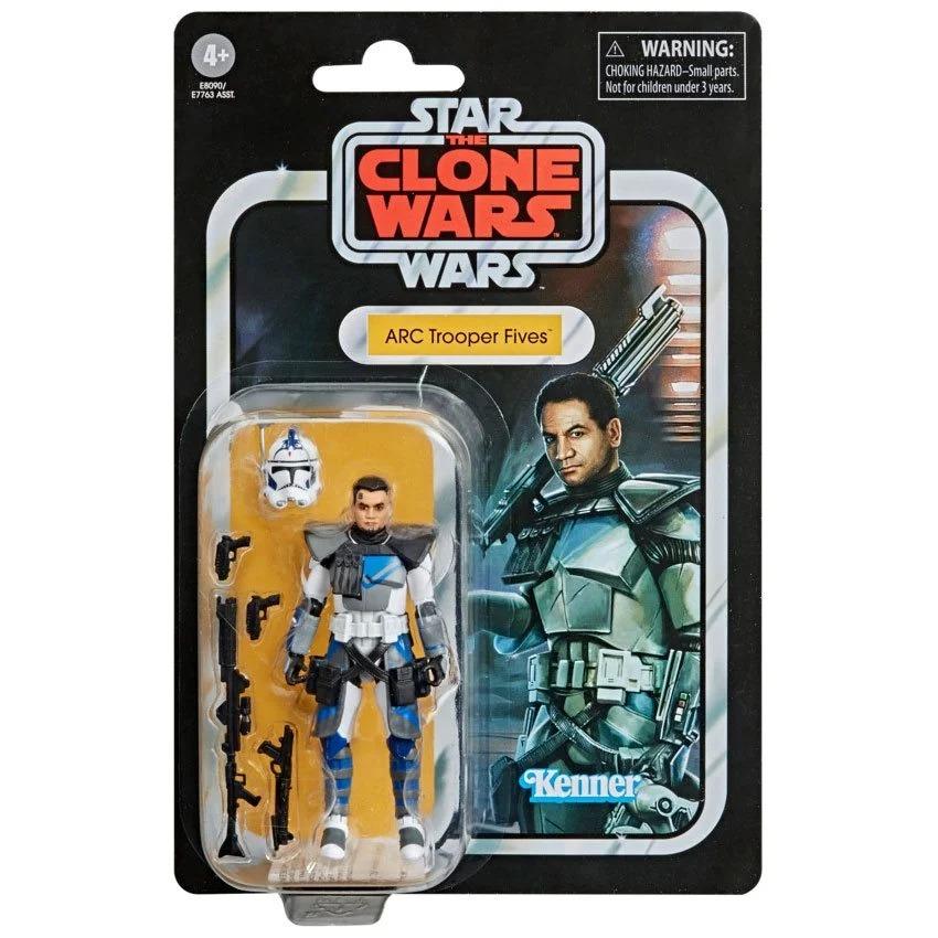 PRÉ VENDA: Action Figure ARC Trooper Fives Star Wars Guerra dos Clones The Vintage Collection E7763  - Hasbro