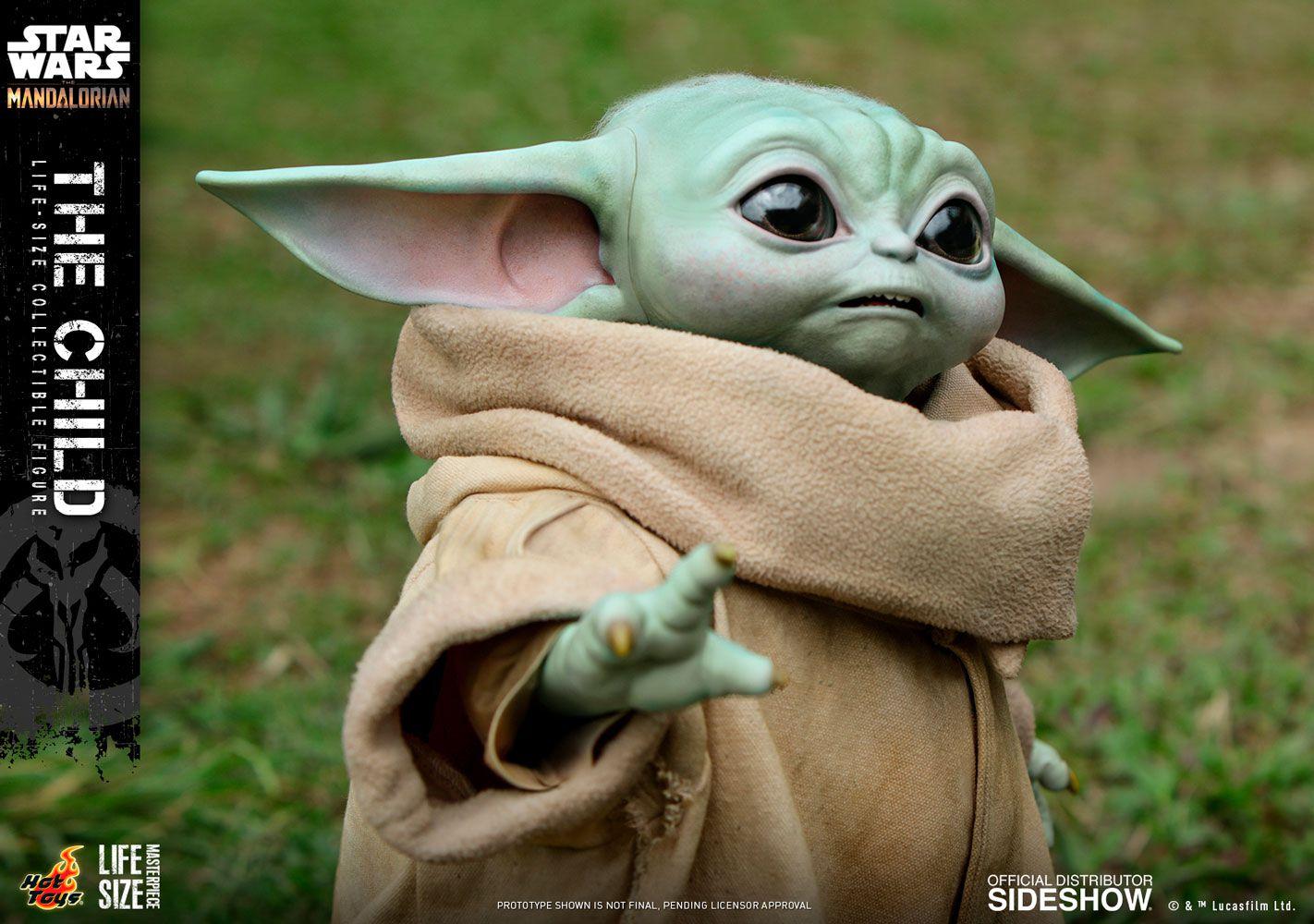 PRÉ VENDA: Action Figure Baby Yoda (The Child): The Mandalorian (Star Wars) Life-Size Masterpiece Series (LMS013) - Hot Toys