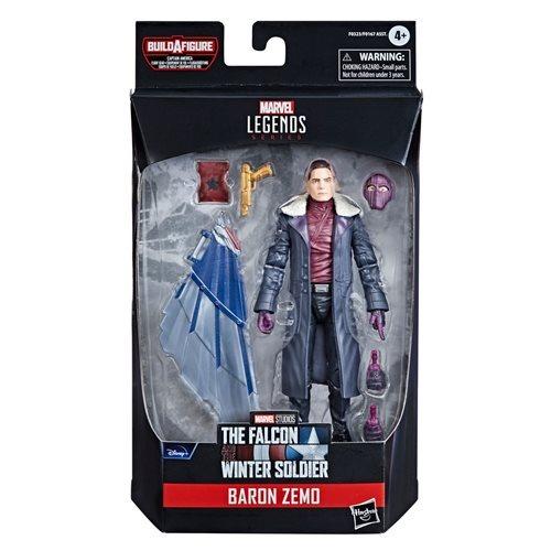 PRÉ VENDA: Action Figure Barão Zemo Biuld A Figure Falcão Disney Plus Marvel Legends Series - Hasbro