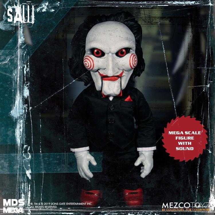 Action Figure Billy (Talking): Jogos Mortais (Saw) Mezco Designer Series (MDS) Boneco Colecionável - Mezco