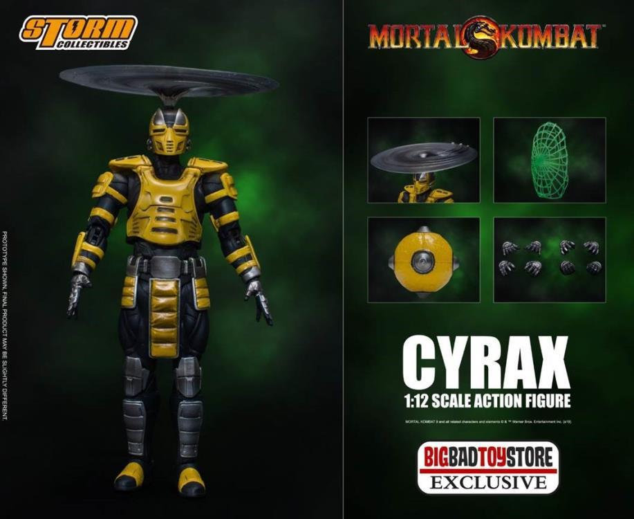 PRÉ-VENDA Action Figure Cyrax Exclusivo: Mortal Kombat  (Escala 1/12) Boneco Colecionável - Storm Collectibles