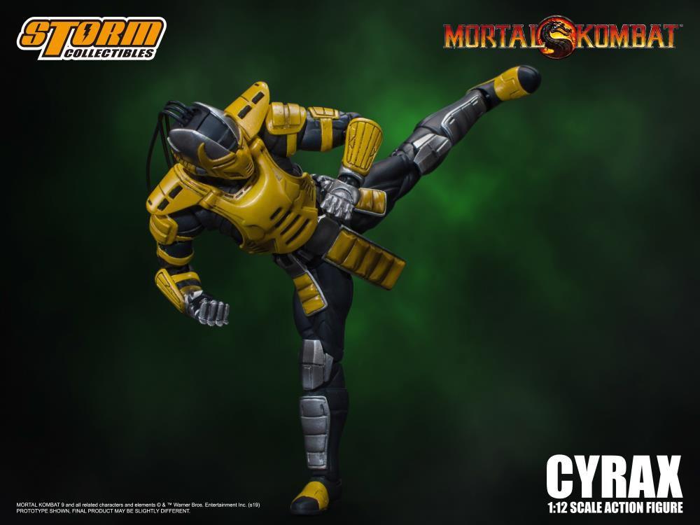 Action Figure Cyrax: Mortal Kombat (Escala 1/12) Boneco Colecionável - Storm Collectibles (Apenas Venda Online)