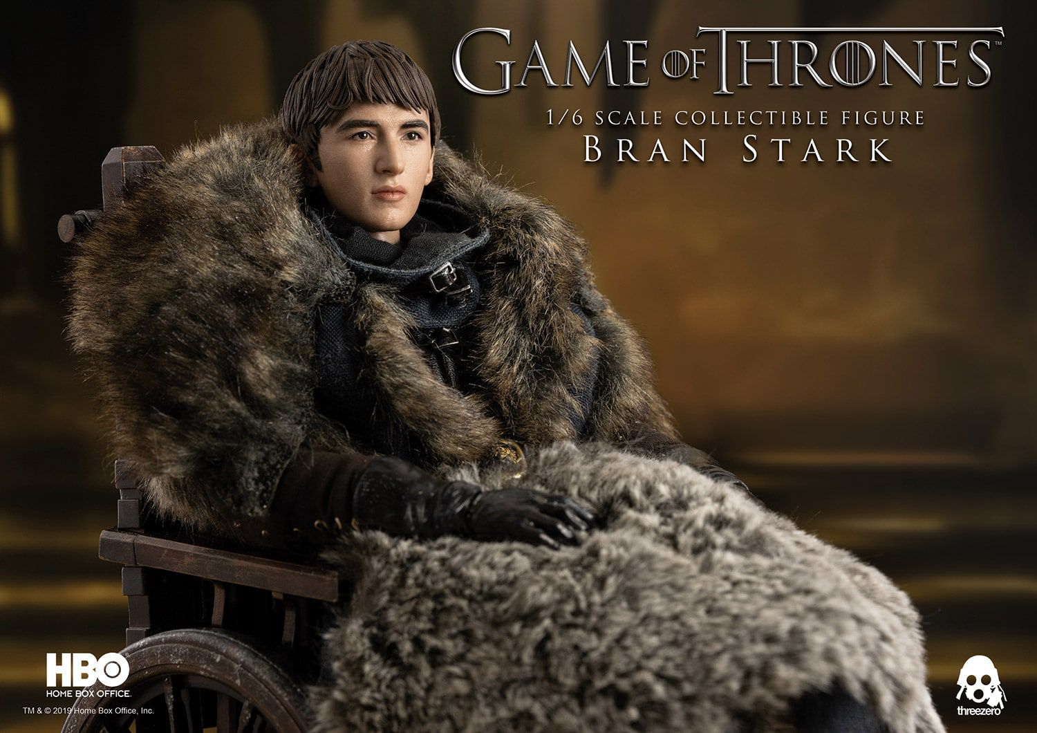 PRÉ VENDA: Action Figure Bran Stark: Game of Thrones (Escala 1/6) Boneco Colecionável - Threezero