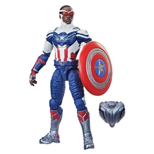 PRÉ VENDA: Action Figure Capitão América Biuld A Figure Falcão Disney Plus Marvel Legends Series - Hasbro