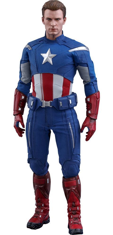 PRÉ VENDA: Action Figure Capitão América (Captain America 2012 Version): Vingadores Ultimato (Avengers Endgame) MMS563 Escala 1/6 - Hot Toys
