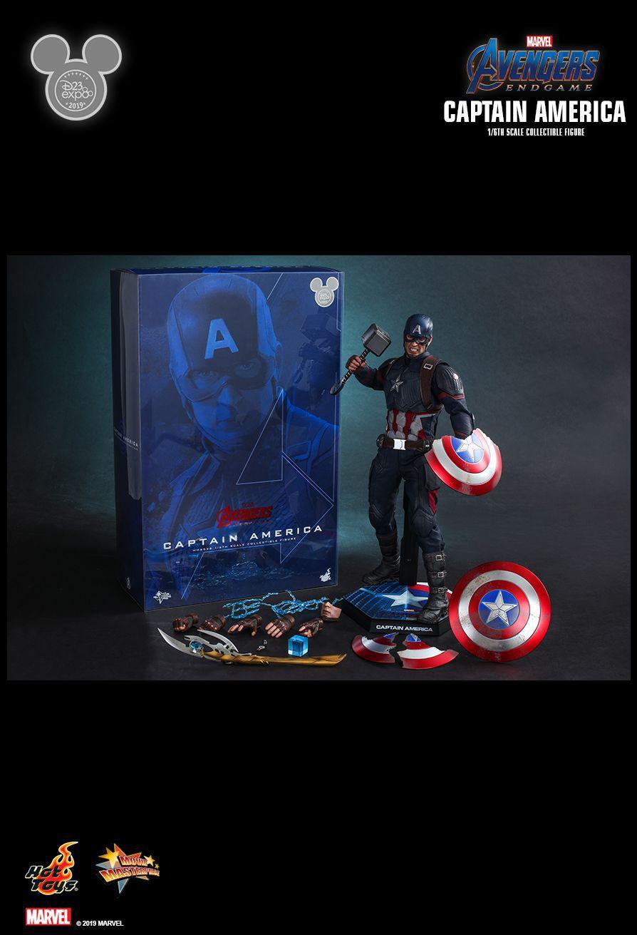 PRÉ VENDA: Action Figure Capitão América (Captain America) Special Edition (D23 Expo 2019): Vingadores Ultimato (Avengers Endgame) Boneco Colecionável (MMS526) Escala 1/6 - Hot Toys