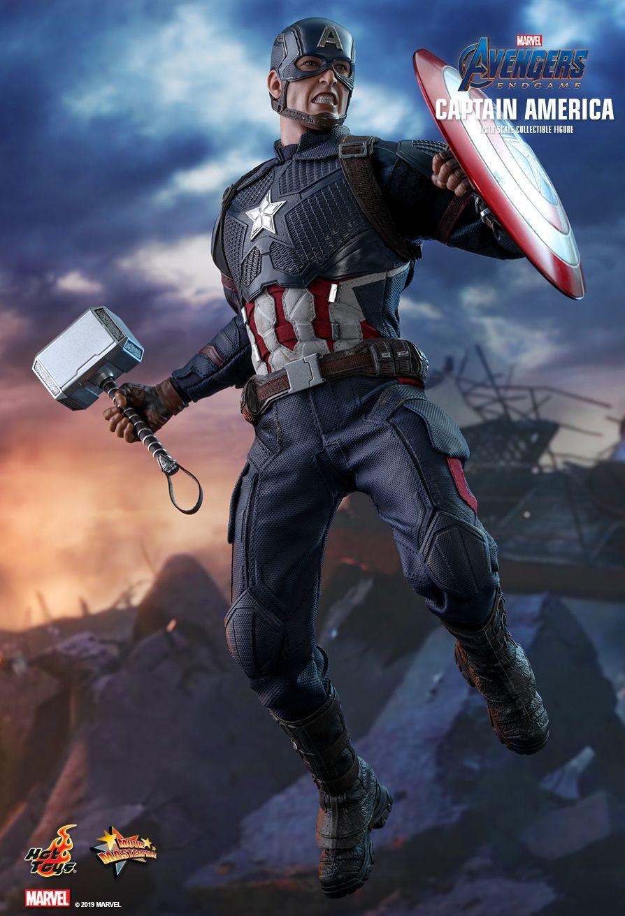 Action Figure Capitão América (Captain America): Vingadores Ultimato (Avengers Endgame) MMS536 Escala 1/6 -  Boneco Colecionável - Hot Toys