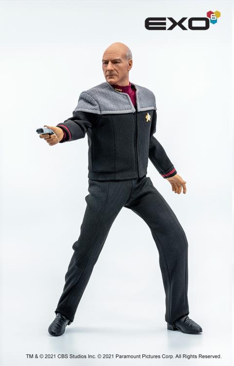 PRÉ VENDA: Action Figure Capitão Picard: Star Trek: Primeiro Cotato First Contact Escala 1/6 - EXO-6