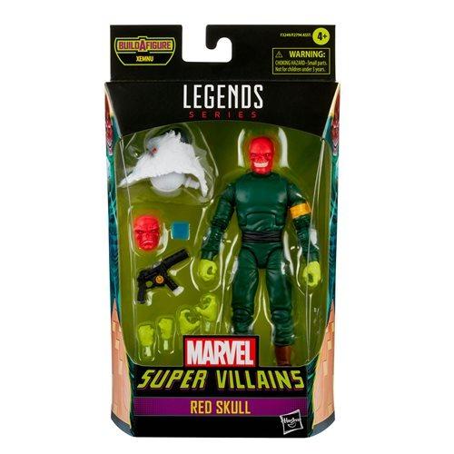 PRÉ VENDA: Action Figure Caveira Vermelha Super Vilões Biuld A Figure Xemnu Marvel Legends Series - Hasbro