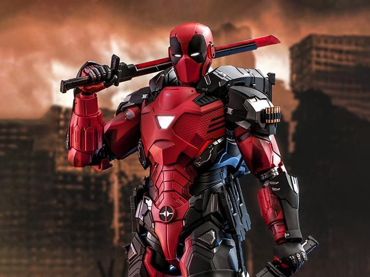 PRÉ VENDA: Action Figure Colecionável Deadpool Blindado Armorized Deadpool Marvel Comics Escala 1/6 CMS09D42 - Hot toys