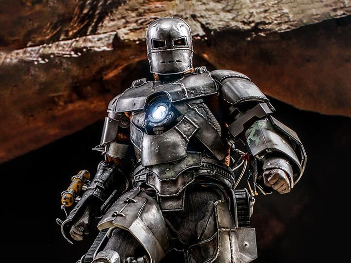 PRÉ VENDA: Action Figure Colecionável Homem de Ferro Mark I: Iron Man Movie Escala 1/6 MMS605D40 - Hot toys