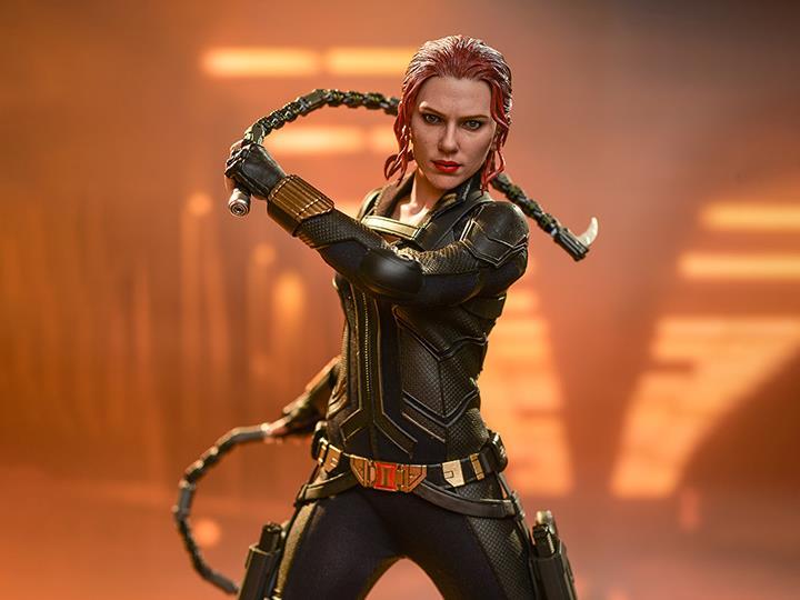 PRÉ VENDA: Action Figure Colecionável Viuva Negra Black Widow (Black Suit) Black Widow Movie Marvel Comics Escala 1/6 MMS603 - Hot toys