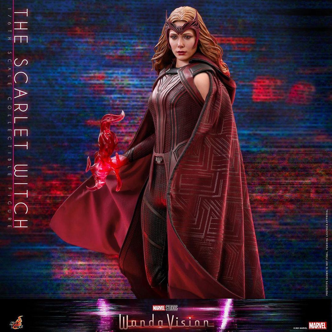 PRÉ VENDA: Action Figure Feiticeira Escarlate The Scarlet Witch: WandaVision Marvel Escala 1/6 - Hot Toys
