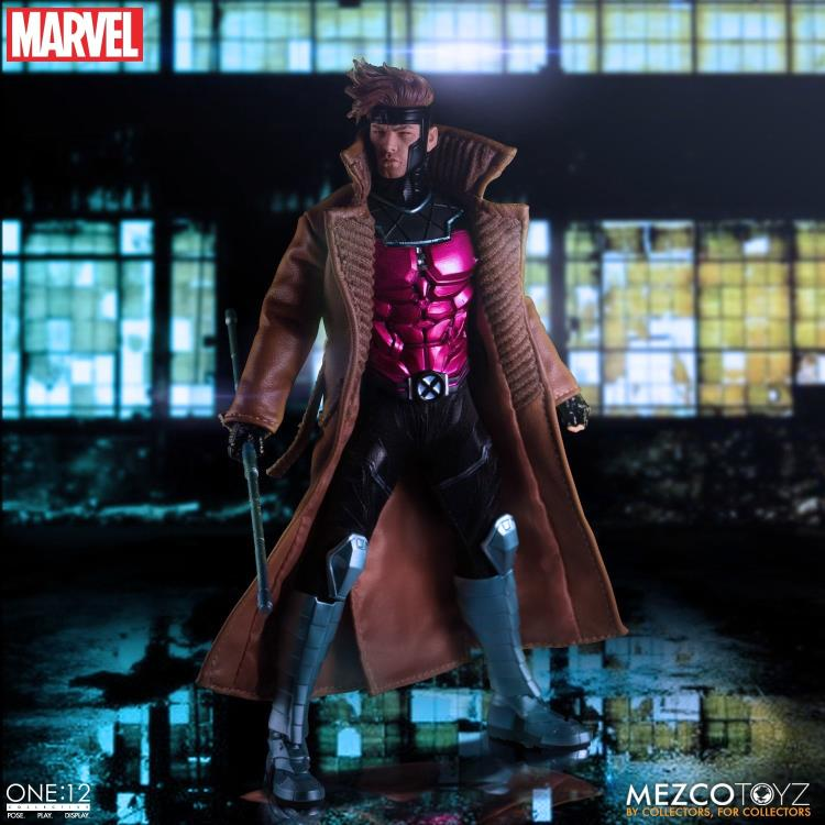 PRÉ-VENDA Action Figure Gambit: X-Men (One:12 Collective) Escala 1/12 - Boneco Colecionável - Mezco