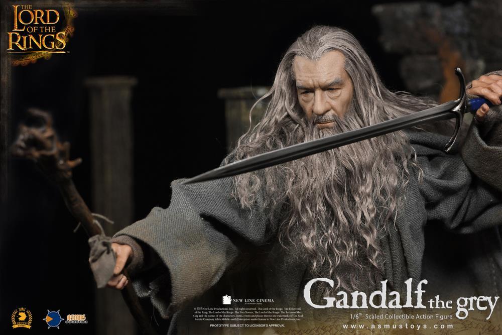 PRÉ VENDA: Action Figure Gandalf o Cinzento Gandalf The Gray: Senhor dos Anéis: As Duas Torres The Lord of the Rings: The Two Towers:  Escala 1/6 - Asmus Toys