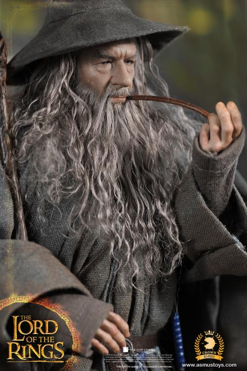 PRÉ-VENDA Action Figure Gandalf O Cinzento: O Senhor dos Anéis (The Lord Of The Rings) Boneco Colecionável Escala 1/6 - Asmus Toys