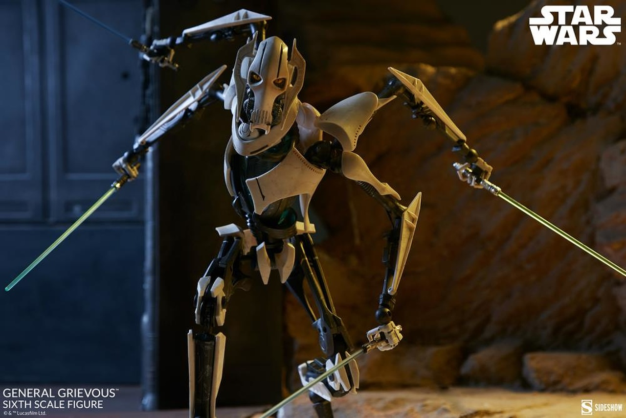 PRÉ VENDA: Action Figure General Grievous: Star Wars Escala 1/6 - Sideshow Collectibles