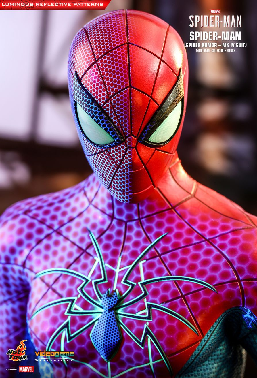 PRÉ VENDA: Action Figure Homem-Aranha Armadura Aranha MK4 (Spider-Man Spider Armor - MK IV) Marvel Escala 1/6 (VGM43) - Hot Toys