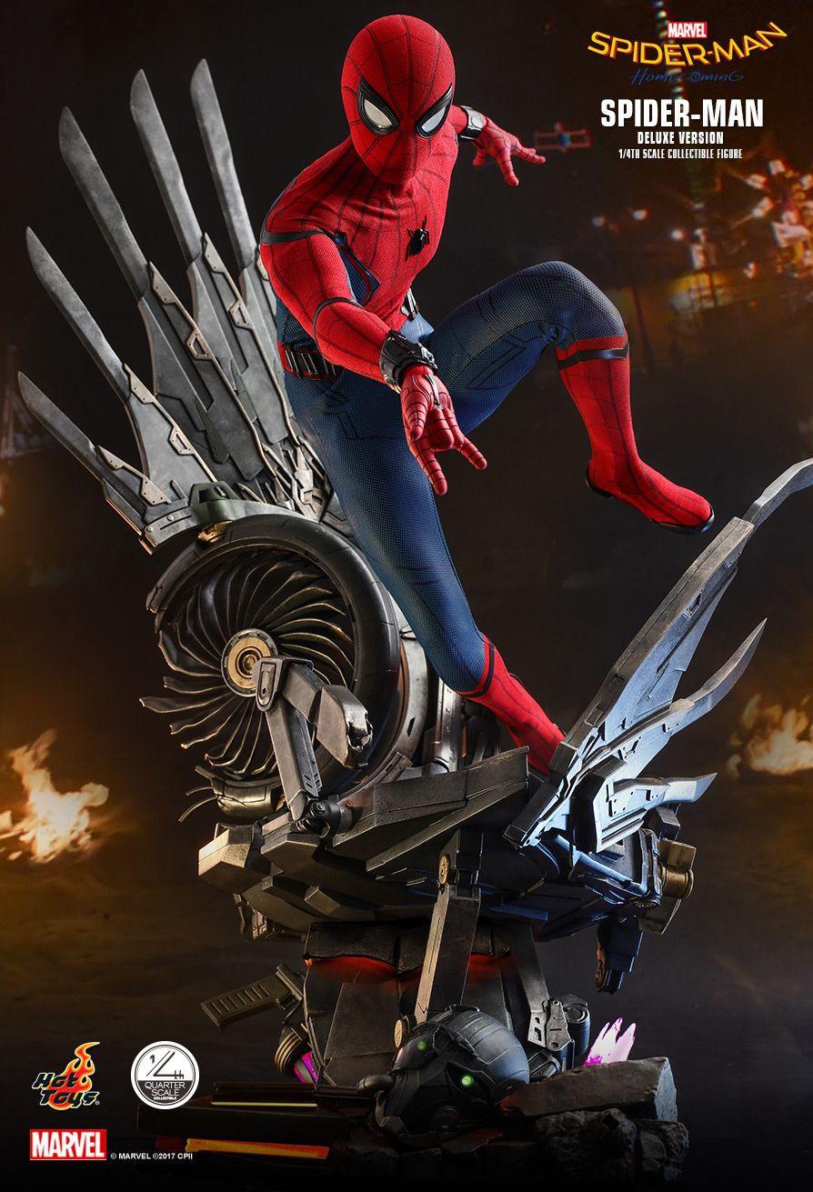 PRÉ VENDA: Action Figure Homem-Aranha (Spider-Man) Deluxe: Homem-Aranha De Volta ao Lar (Homecoming) Boneco Colecionável (QS015) Escala 1/4 - Hot Toys