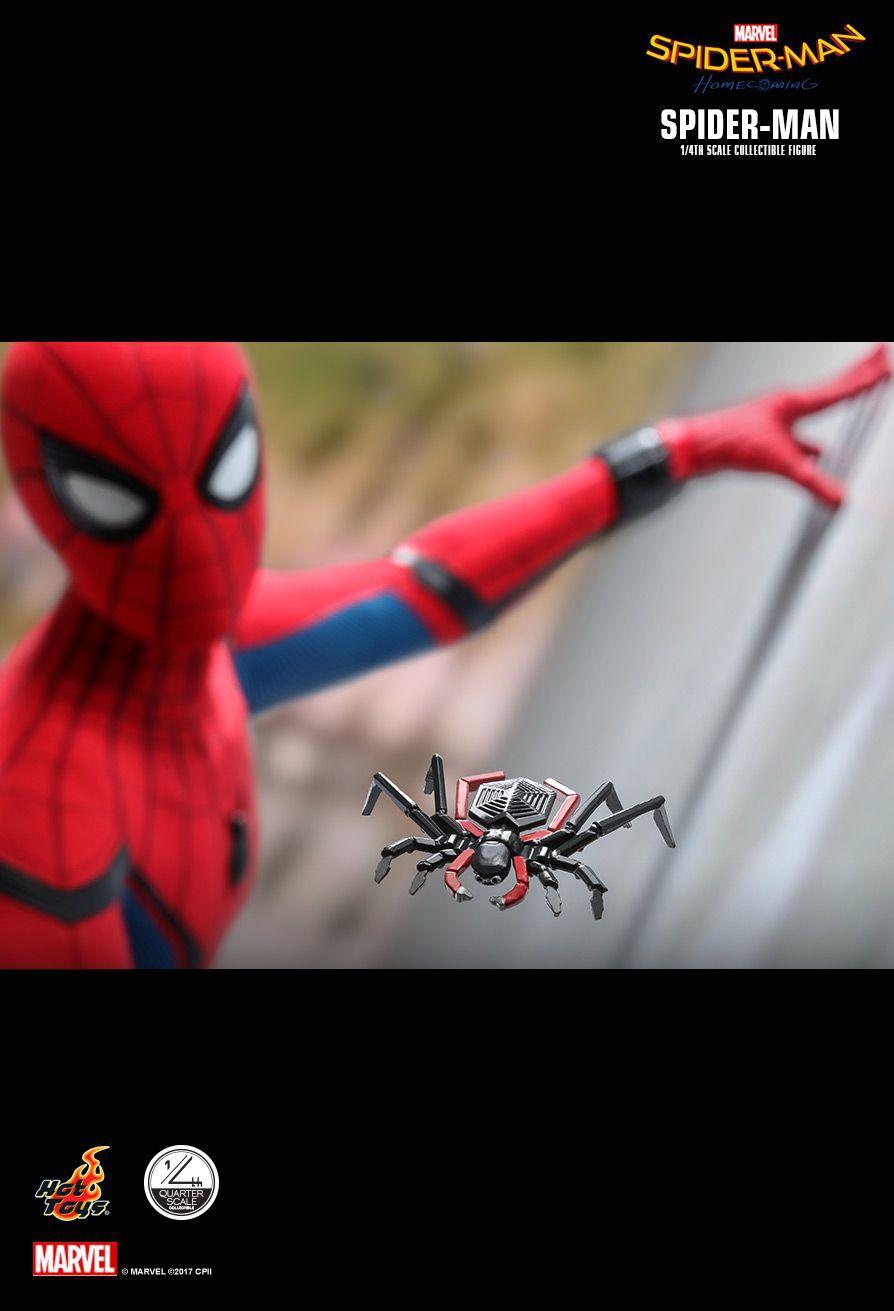 PRÉ VENDA: Action Figure Homem-Aranha (Spider-Man): Homem-Aranha De Volta ao Lar (Homecoming) Boneco Colecionável (QS014) Escala 1/4 - Hot Toys