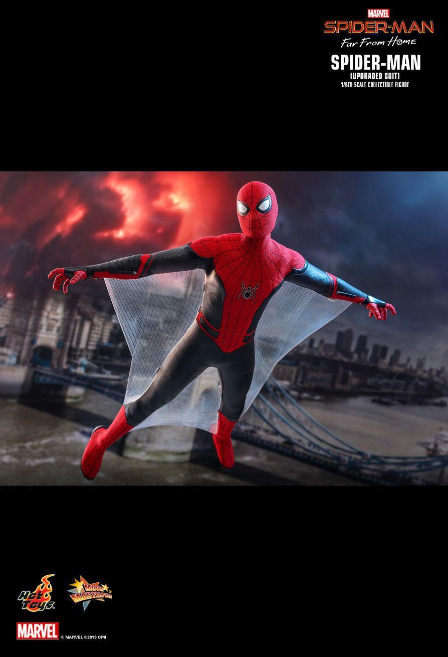 PRÉ VENDA: Action Figure Homem-Aranha (Spider-Man Upgraded Suit): Homem-Aranha Longe de Casa (Far From Home) (MMS542) Escala 1/6 - Hot Toys