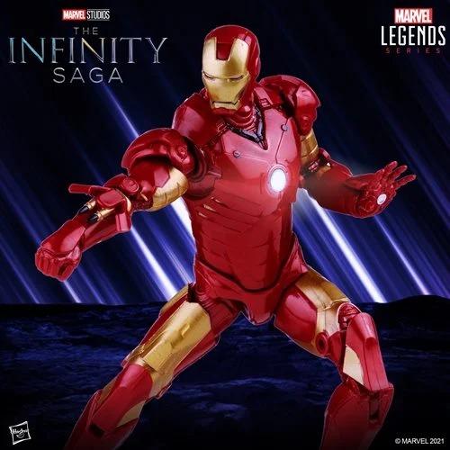 Action Figure Homem de Ferro Iron Man Mark 3 III: Marvel Legends The Infinity Saga F0184 - Hasbro