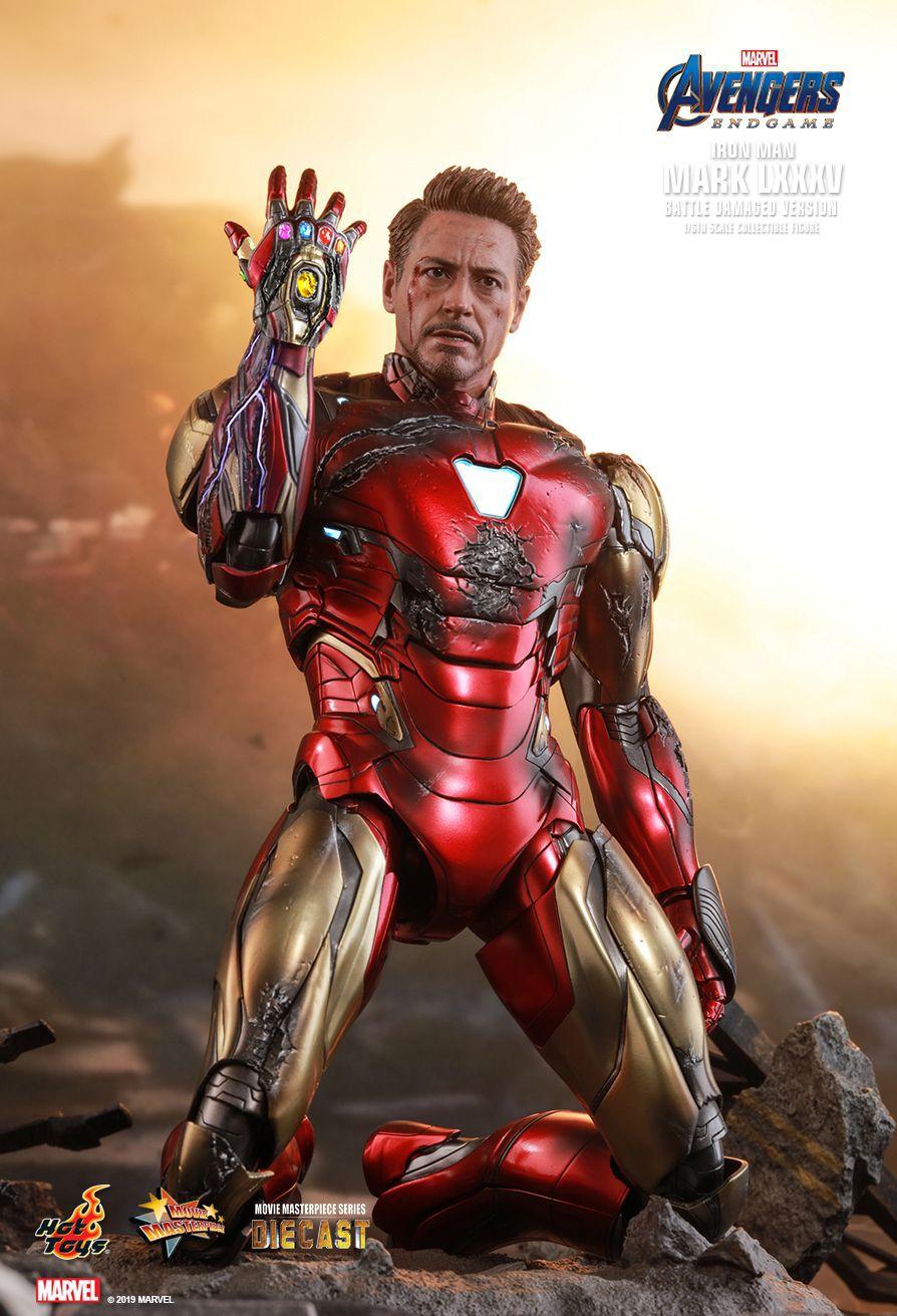PRÉ VENDA: Action Figure Homem de Ferro (Iron Man) Mark LXXXV (Battle Damaged Version): Vingadores Ultimato (Avengers Endgame) (MMS543 D33) Boneco Colecioável (Escala 1/6) - Hot Toys