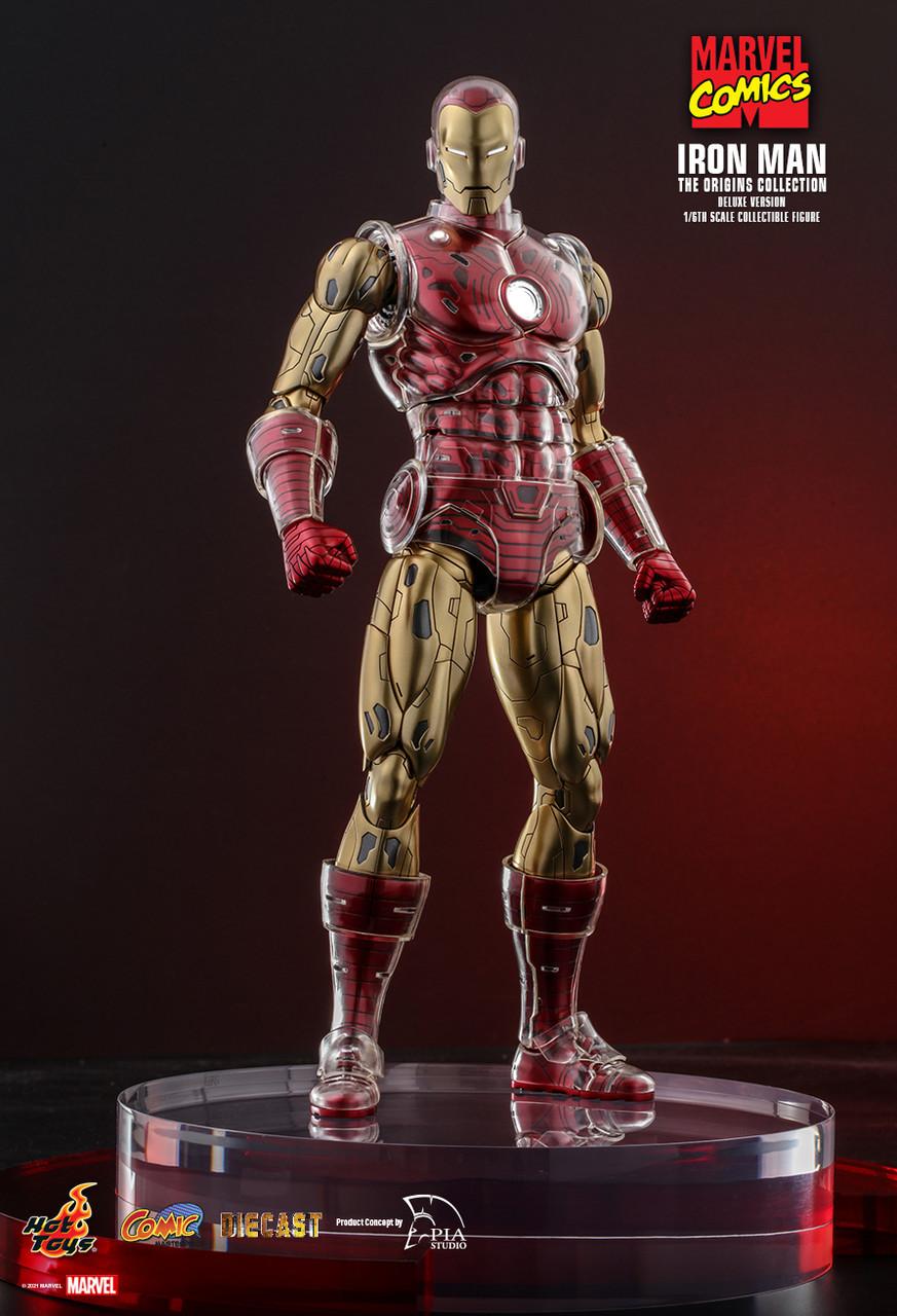 PRÉ VENDA: Action Figure Homem de Ferro Iron Man The Origins Collection Deluxe Version: Marvel Comics Escala 1/6 Diecast - Hot Toys