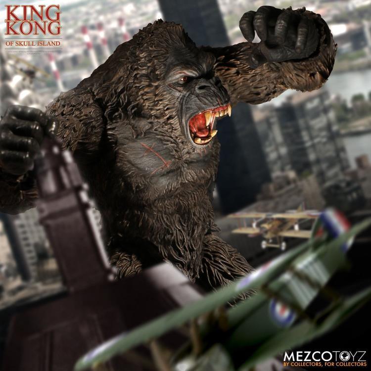 """PRÉ VENDA Action Figure King Kong 18"""": Kong: A Ilha da Caveira (Skull Island) Boneco Colecionável - Mezco"""