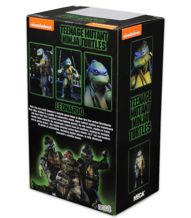 Action Figure Leonardo: Tartarugas Ninja (Teenage Mutant Ninja Turtles 1990) Escala 1/4 (Boneco Colecionável) - NECA