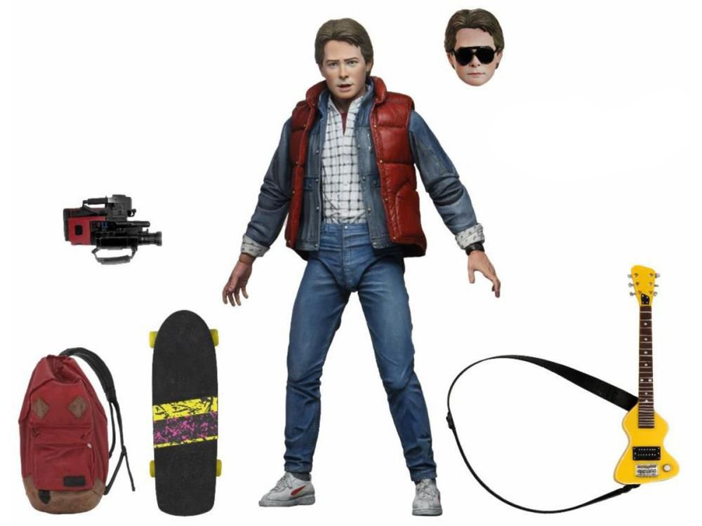 Action Figure Marty McFly (Ultimate): De Volta Para o Futuro (Back To The Future) - Neca