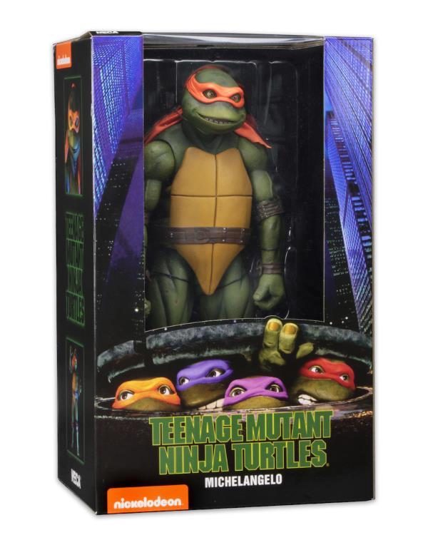 Action Figure Michelangelo: Tartarugas Ninja (Teenage Mutant Ninja Turtles 1990) Escala 1/4 (Boneco Colecionável) - NECA
