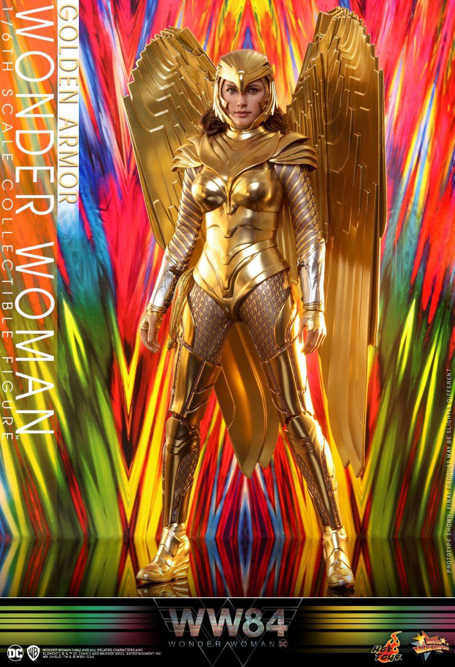 PRÉ VENDA: Action Figure Mulher-Maravilha Armadura Dourada (Wonder Woman Golden Armor) DC Escala 1/6 (MMS577) - Hot Toys