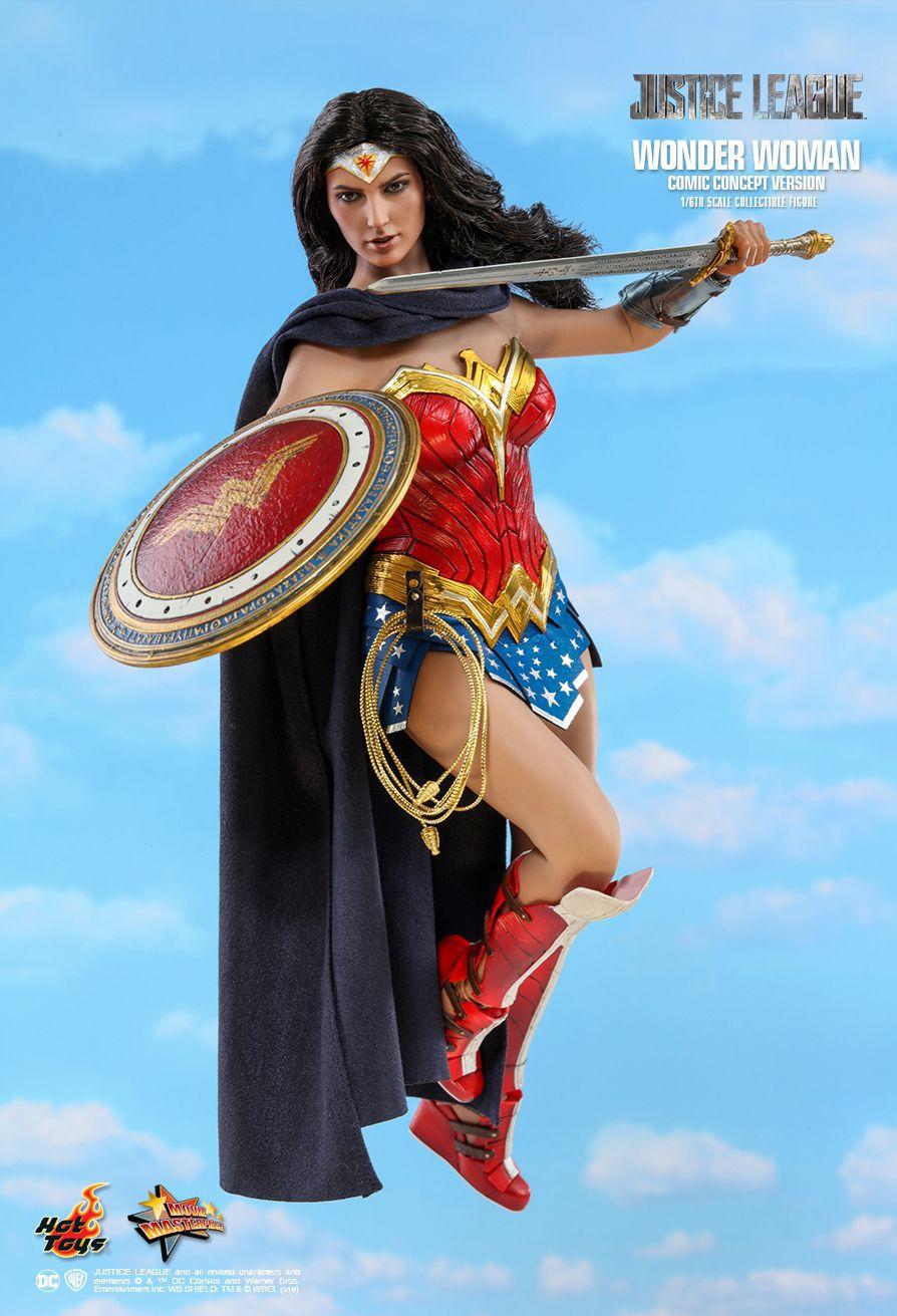 Action Figure Mulher-Maravilha (Wonder Woman Comic Concept Version): Liga da Justiça (Justice League) Boneco Colecionável (MMS506) Escala 1/6 - Hot Toys