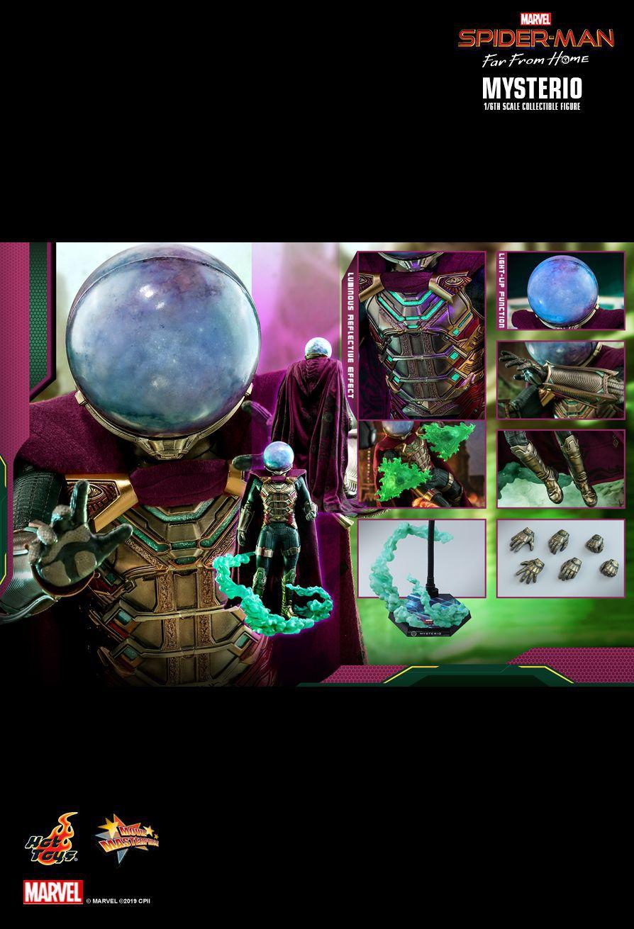 PRÉ VENDA: Action Figure Mysterio: Homem-Aranha Longe de Casa (Spider-Man Far From Home) Boneco Colecionável (MMS556) Escala 1/6 - Hot Toys