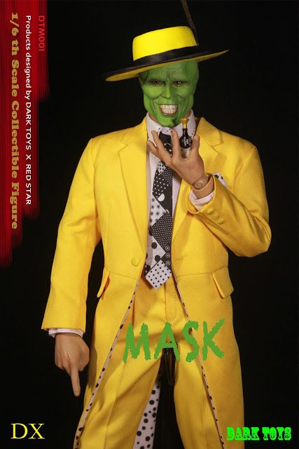 Action Figure O Máskara (The Mask Deluxe): O Máskara (The Mask) Escala 1/6 - Dark Toys - ET