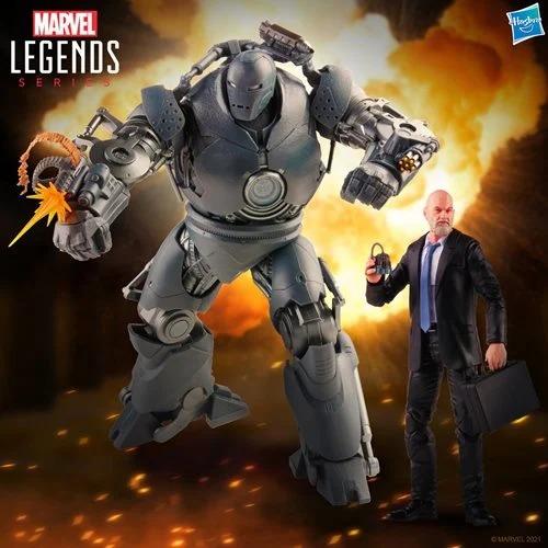 PRÉ VENDA: Action Figure Obadiah Stane e Monge de Ferro Homem de Ferro Iron Man Escala 1/12 Marvel Legends - Hasbro