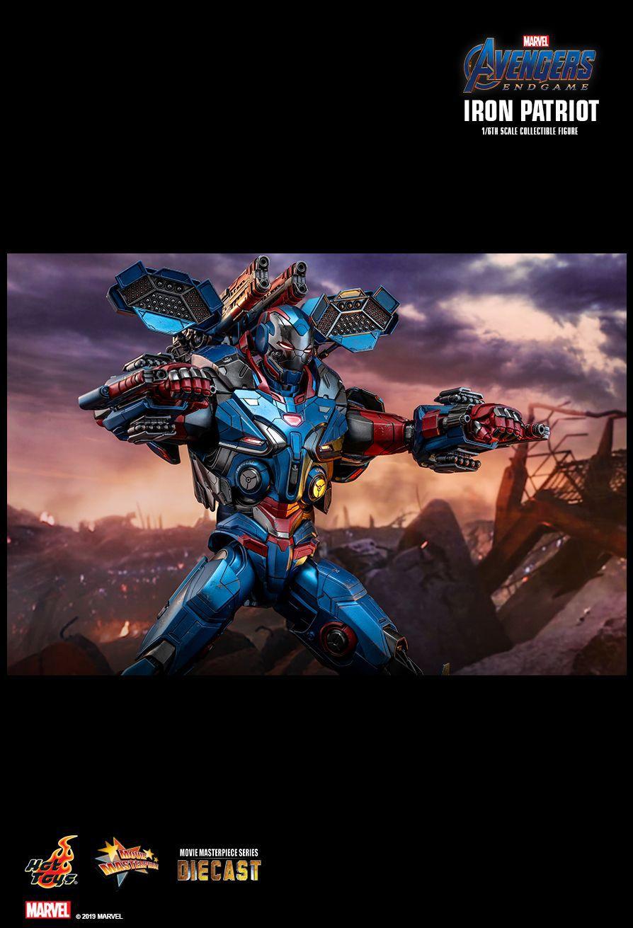 PRÉ VENDA: Action Figure Patriota de Ferro (Iron Patriot): Vingadores Ultimato (Avengers Endgame) (MMS547 D34) Boneco Colecionável (Escala 1/6) - Hot Toys