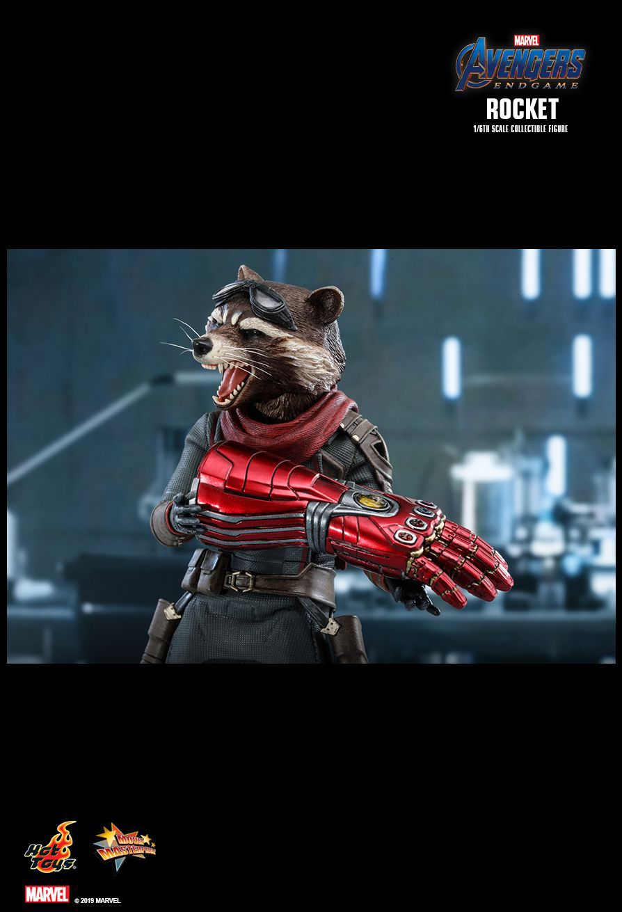 Action Figure Rocket Raccoon: Vingadores Ultimato (Avengers Endgame) (MMS548) (Escala 1/6) - Hot Toys