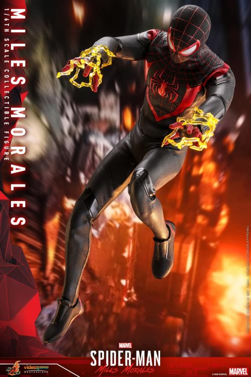 Pré Venda: Action Figure Spider-Man Miles Morales: Marvel Spider-Man Escala 1/6  VGM46 Collectible Figure - Hot Toys
