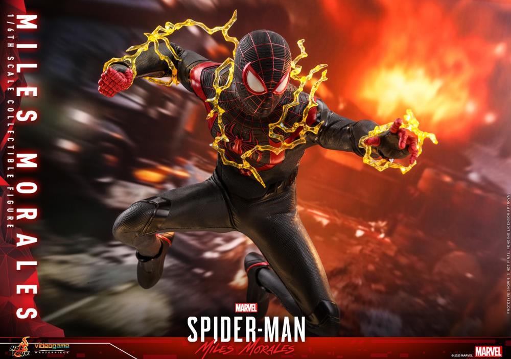 Pré Venda: Action Figure Spider-Man Miles Morales: Marvel Spider-Man Escala 1/6  VGM46 Collectible Figure - Hot Toys