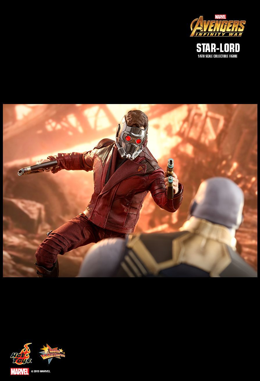 Action Figure Senhor Das Estrelas Star-Lord: Vingadores Guerra Infinita (Avengers Infinity War) (MMS539) Escala 1/6 - Hot Toys