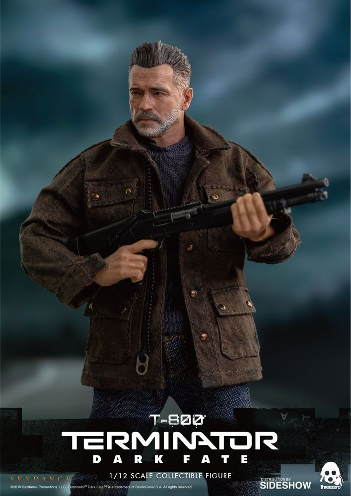 PRÉ VENDA: Action Figure T-800: O Exterminador do Futuro Destino Sombrio (Terminator: Dark Fate) Escala 1/12 - Threezero
