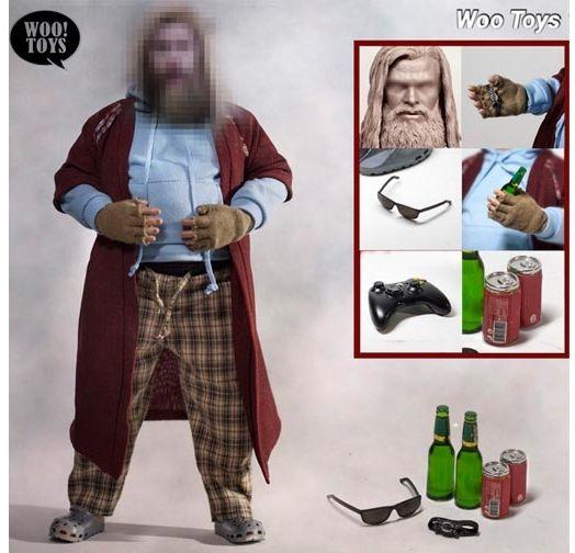 Action Figure Thor Fat Viking: Vingadores Ultimato Avengers Endgame Marvel Comics Escala 1/6 - Woo Toys