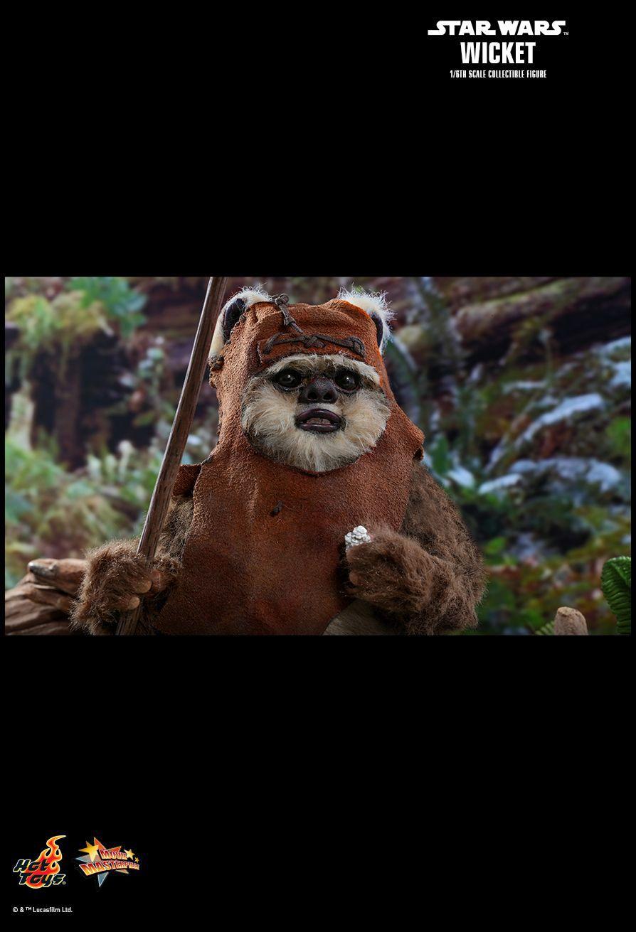 PRÉ VENDA: Action Figure Wicket: Star Wars O Retorno de Jedi (Return of the Jedi) MMS550 Escala 1/6 (Boneco Colecionável) - Hot Toys