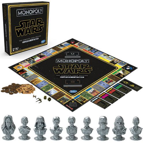 Pré Venda: Boardgames - Monopoly - Star Wars The Complete Saga Edition - 0000 - Hasbro